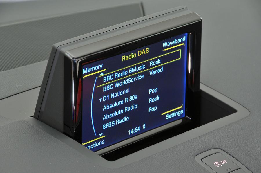 7in Audi A1 infotainment screen