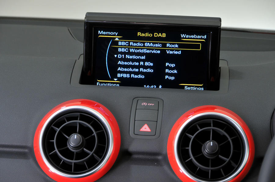 Audi A1 infotainment system