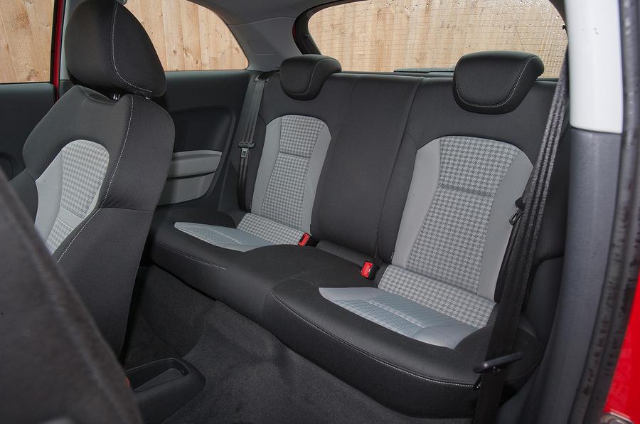 Audi A1's rear seats