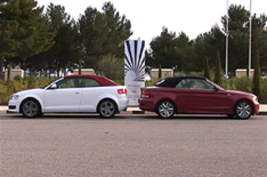 On video: 1-series cab vs A3 convertible