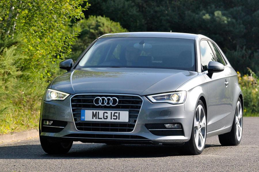 Audi A3 cornering