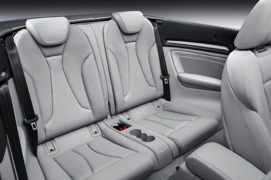 Audi A3 Cabriolet's rear seats