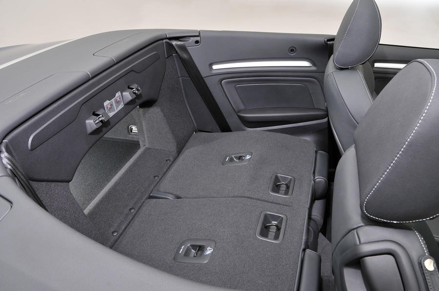 Audi A3 Cabriolet extended boot space