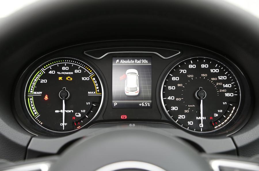 Audi A3 e-tron instrument cluster