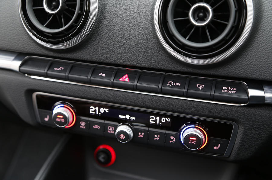 Audi A3 e-tron climate controls