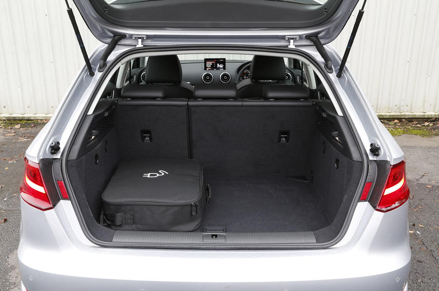 Audi A3 e-tron's boot