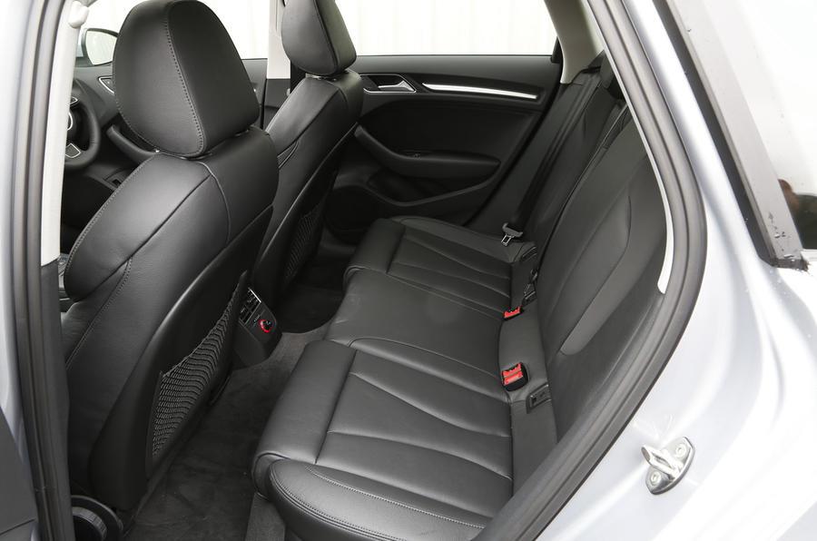 Audi A3 e-tron rear seats