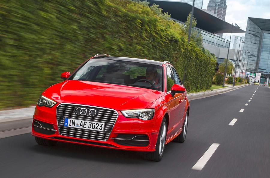 Audi A3 e-tron on the road