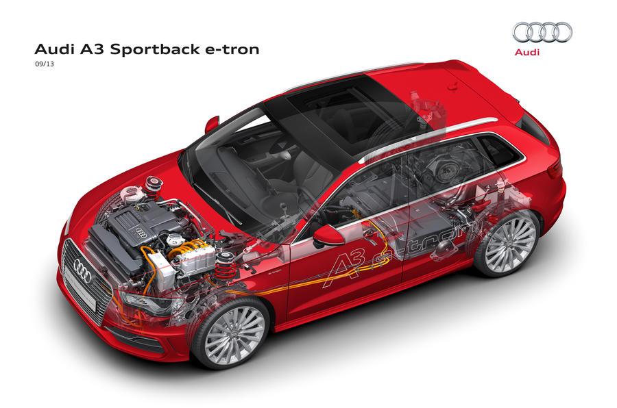 Audi A3 e-tron drive train