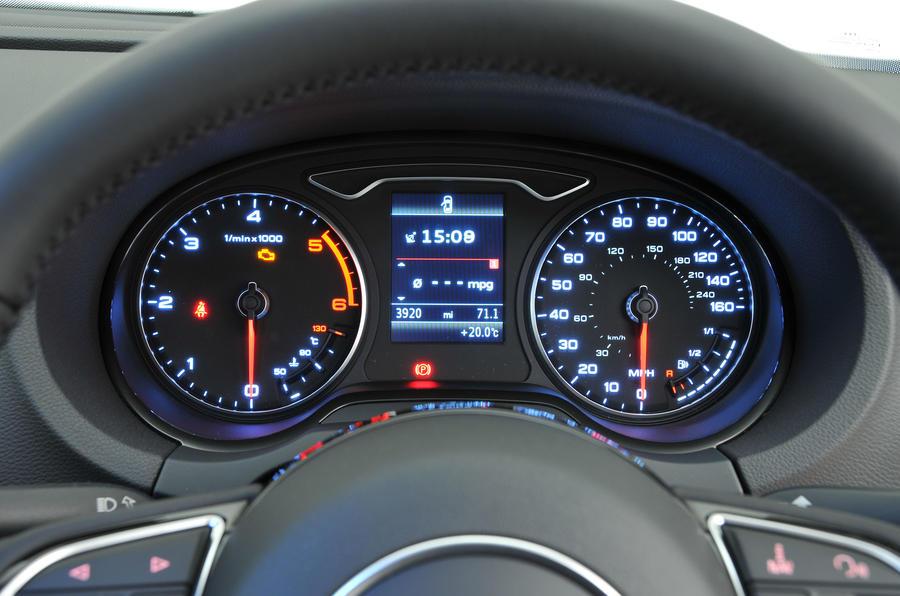 Audi A3 Sportback instrument cluster