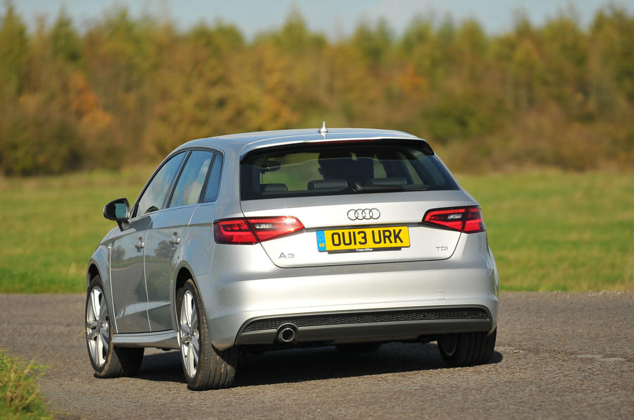 Audi A3 Sportback rear cornering