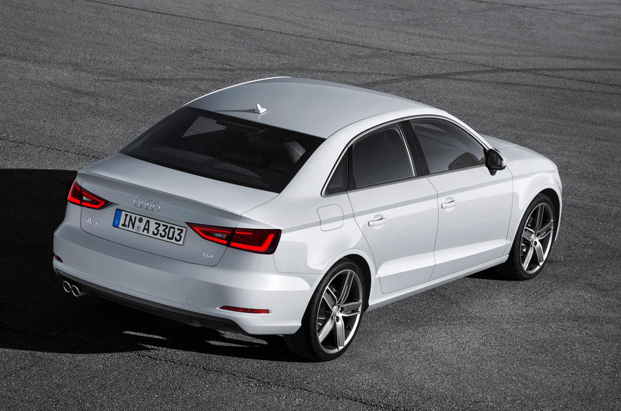 Audi A3 saloon for UK premiere at Goodwood