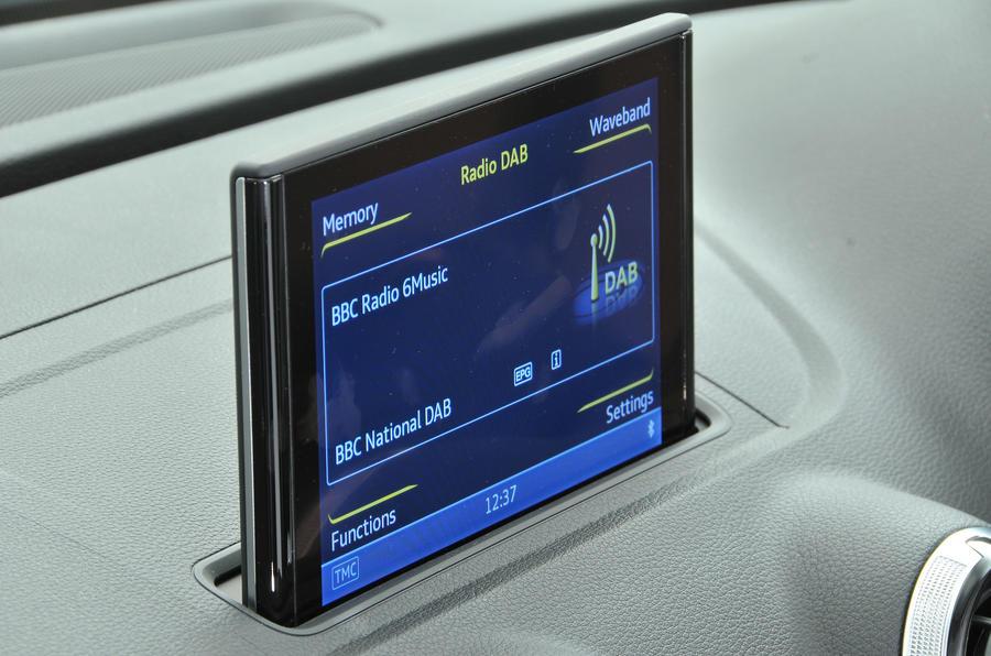 Audi A3 Saloon MMI infotainment screen