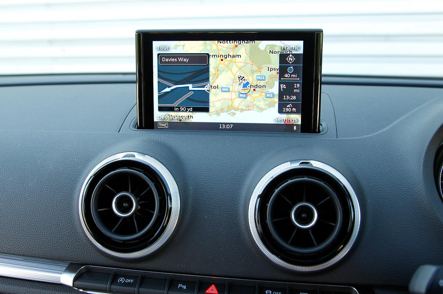 Audi A3's infotainment system