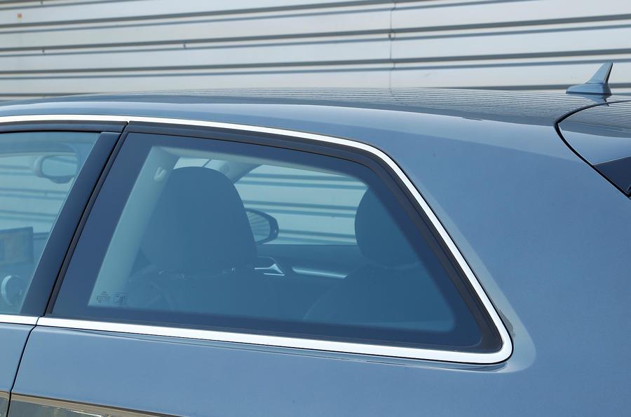 Audi A3's rear window