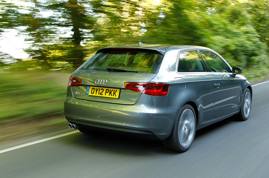 Audi A3 rear shot country road