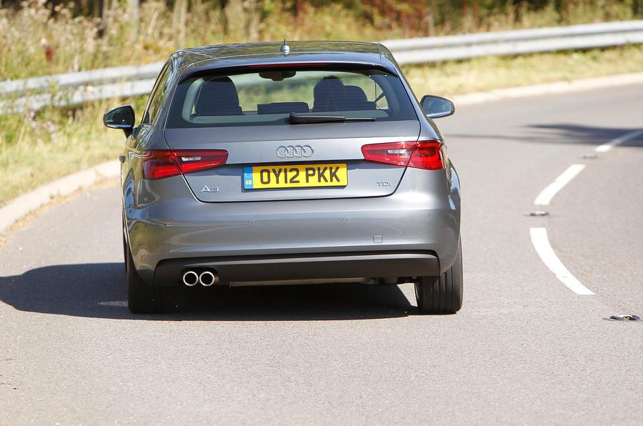 Audi A3 rear motorway
