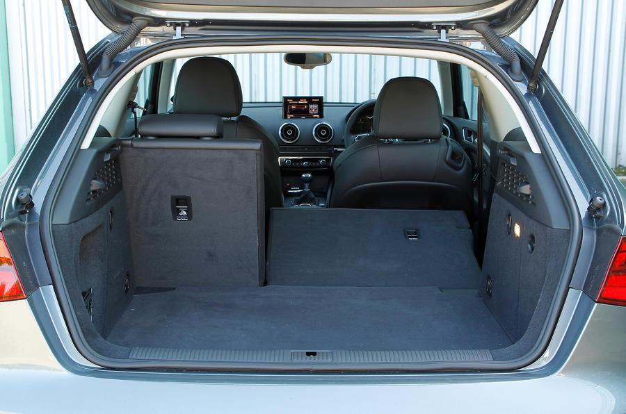 Audi A3's rear seats