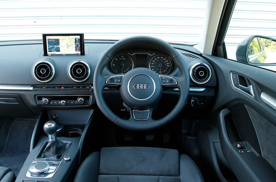 Audi A3 from the driver's seat