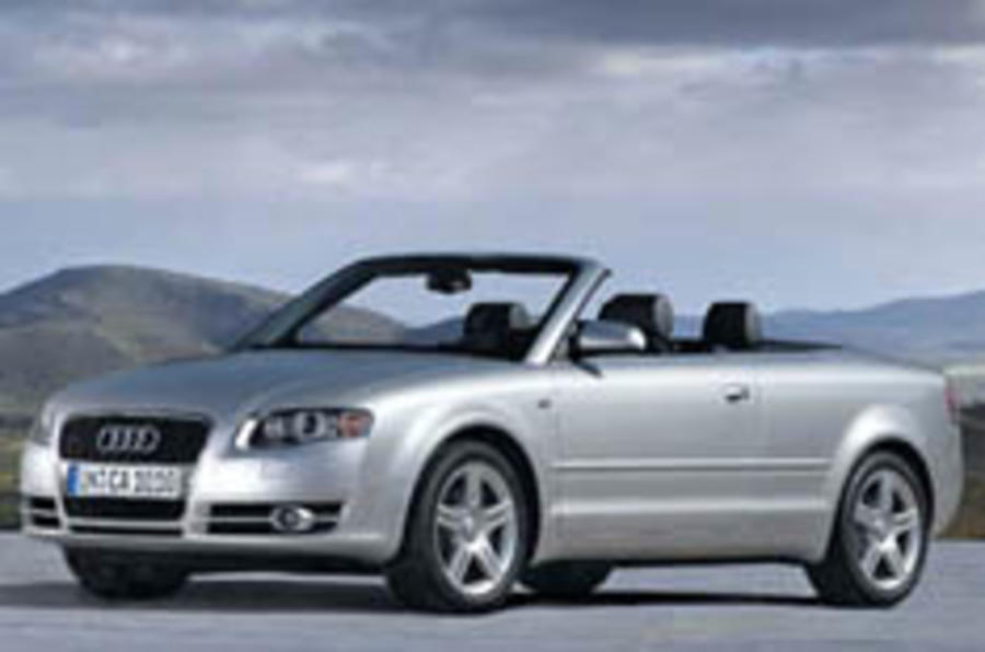 New A4 Cabriolet uncovered