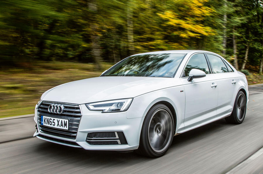 Audi A4 review hero front