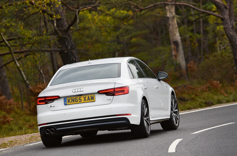 ...but the Audi A4 doesn't feel at one with the road surface