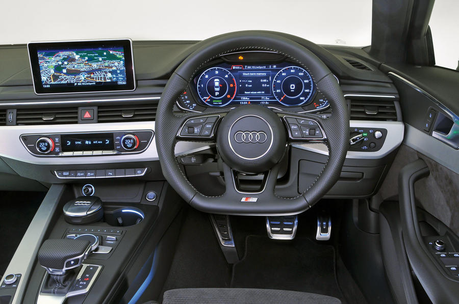 The view from the driver's seat of the Audi A4