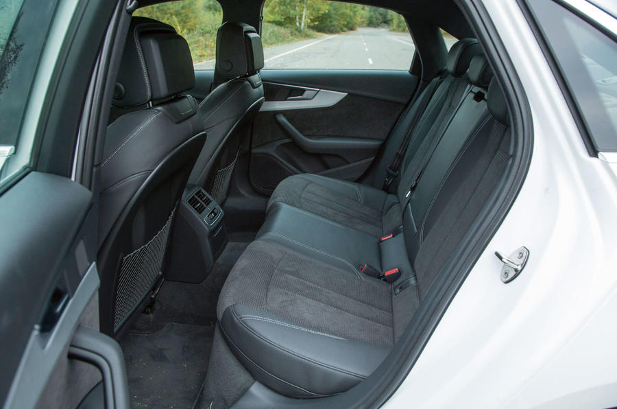 A look at the rear seats in the Audi A4