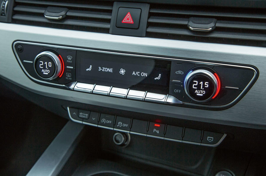 The climate control switchgear fitted in the Audi A4