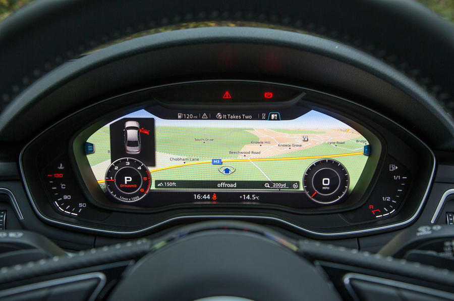 Virtual cockpit is a £480 option on all trims of the Audi A4