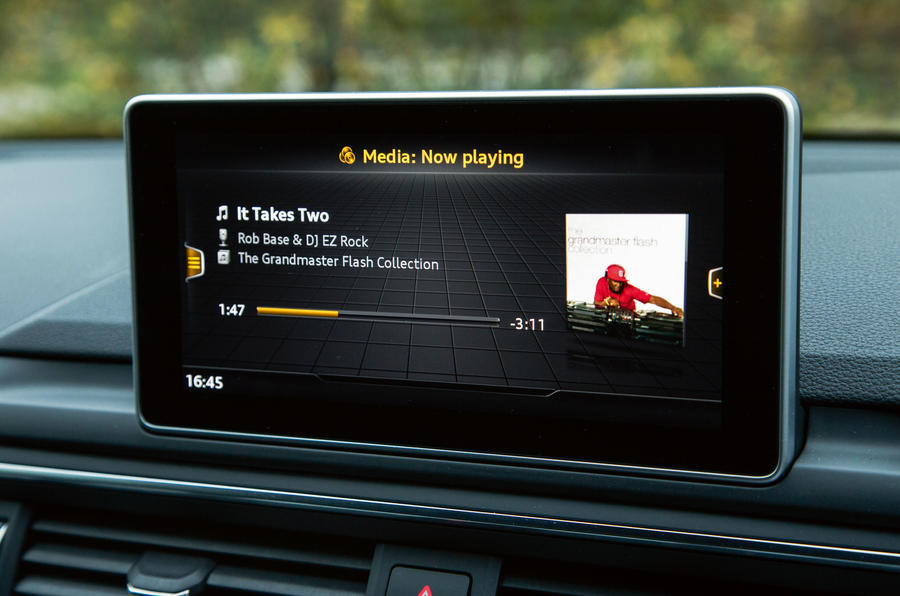 The new and improved MMI infotainment system in the Audi A4