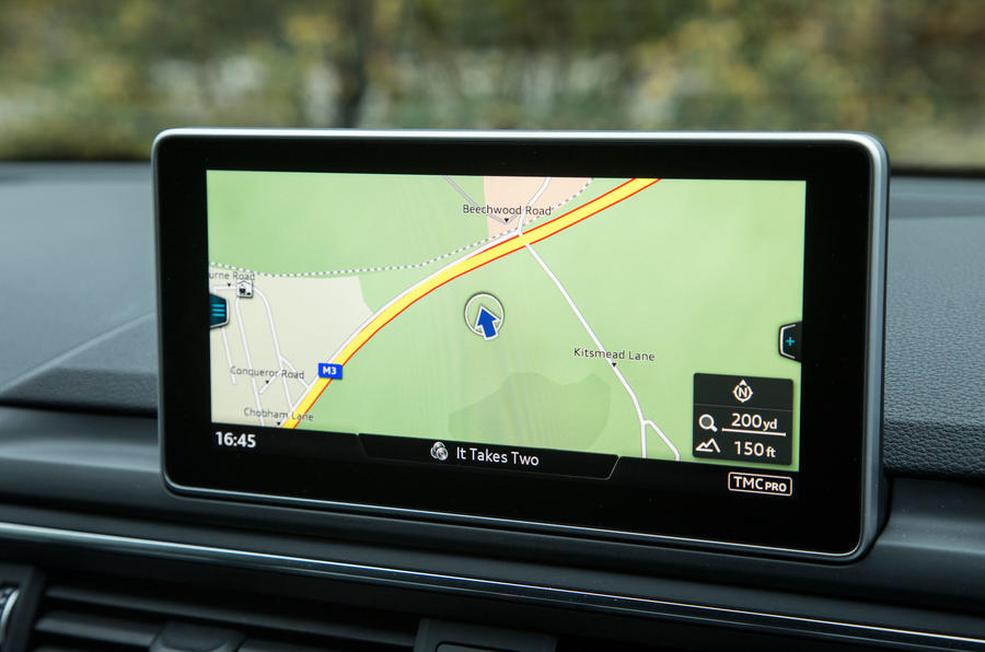 Our test Audi A4 came fitted with the range-topping Navigation Plus system