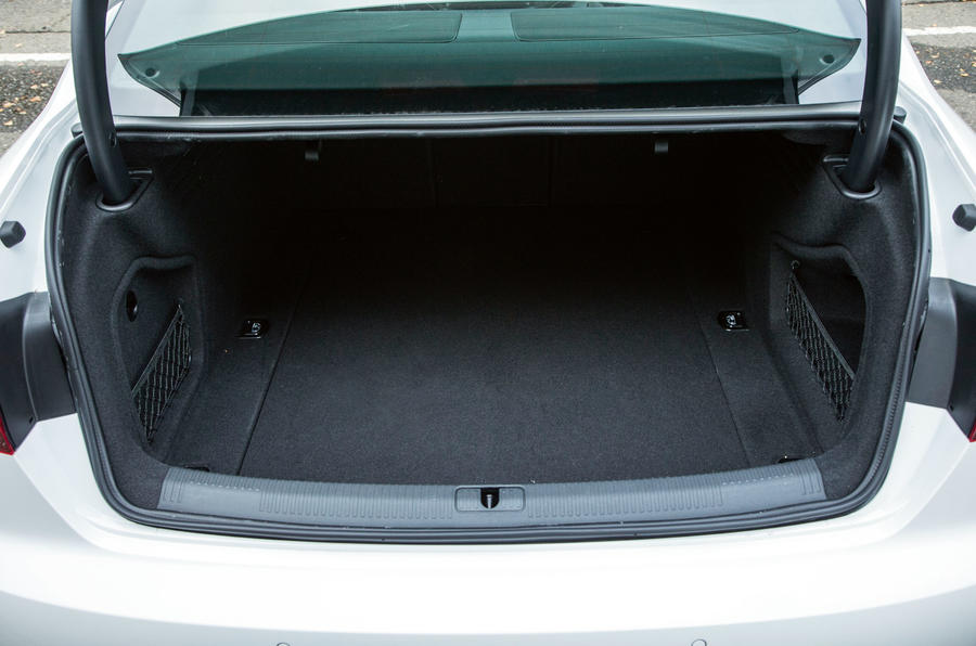 The Audi A4's 480 litre boot opening similar to the BMW 3 Series and the Mercedes-Benz C-Class