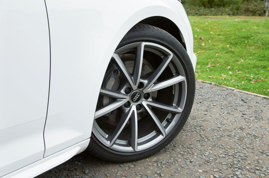 The Audi A4 S Line trim equips it with 19in and 8.5in wide alloy wheels