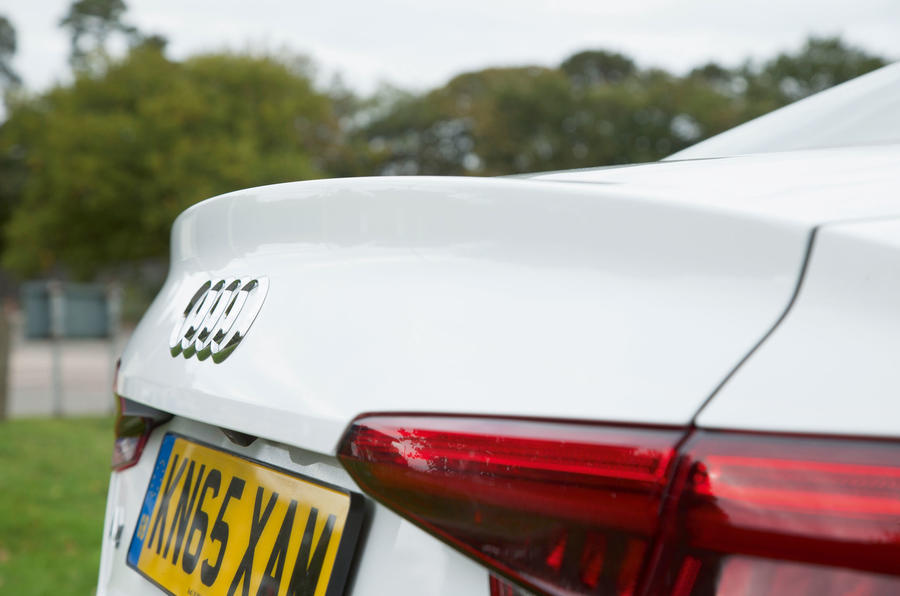 The Audi A4 bootlid has a small kick-up which contributes to a drag coefficient as low as 0.23