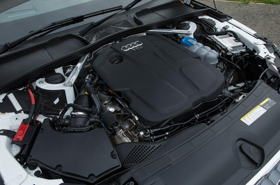 the 2.0-litre 187bhp diesel engine fitted to our Audi A4 test car