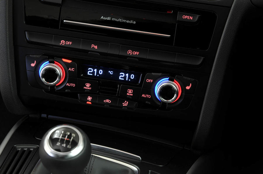 Audi A5 climate controls
