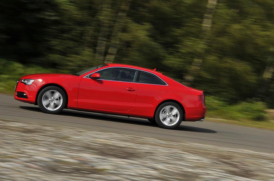 Audi A5 fast cornering