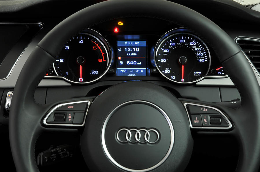 Audi A5 instrument cluster