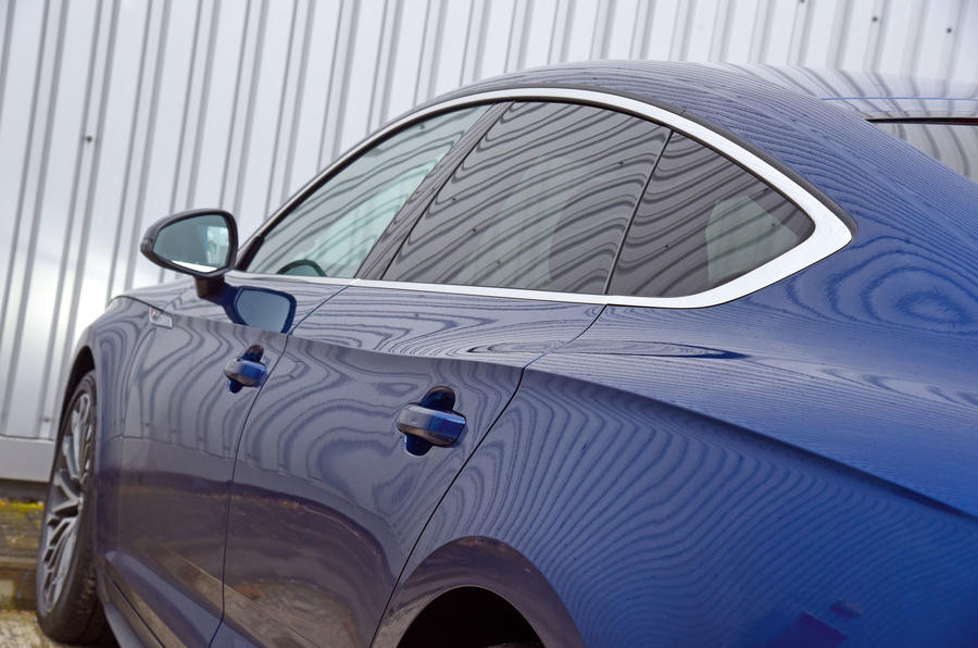 Audi A5 tapered roof line