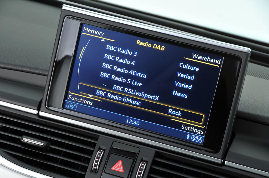 Audi A6 infotainment system