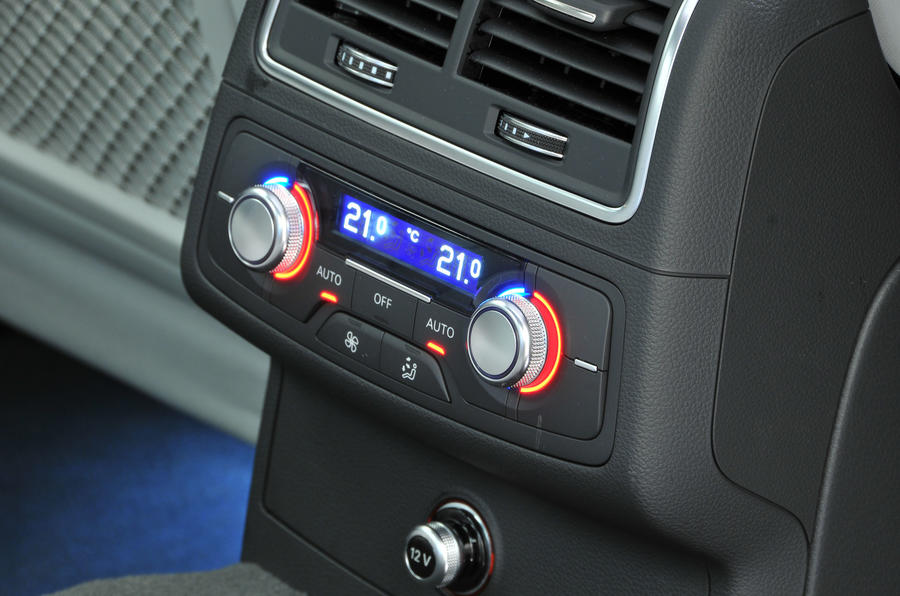 Audi A6 rear climate controls