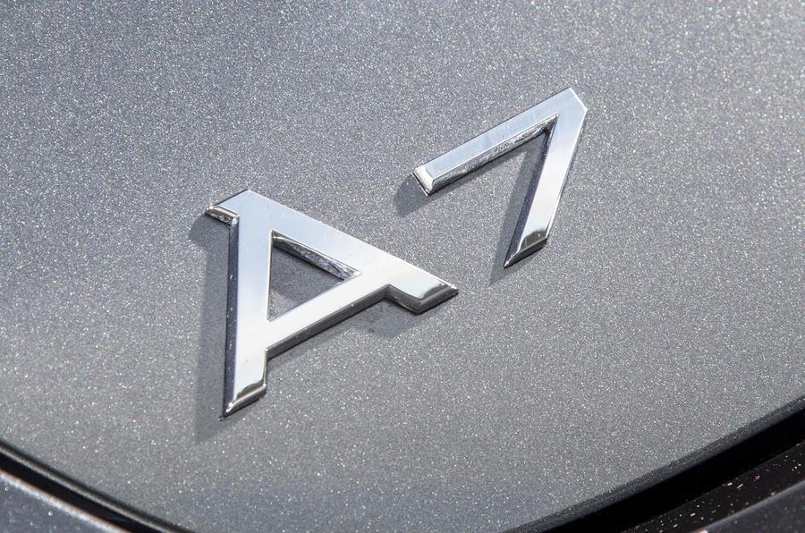 Audi A7 badging