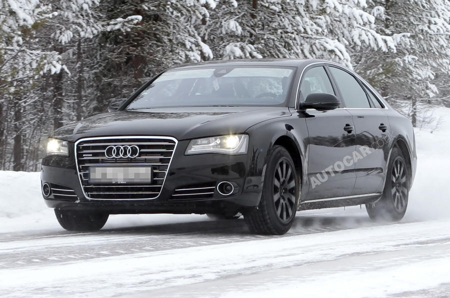 Audi S8 - first spy pics