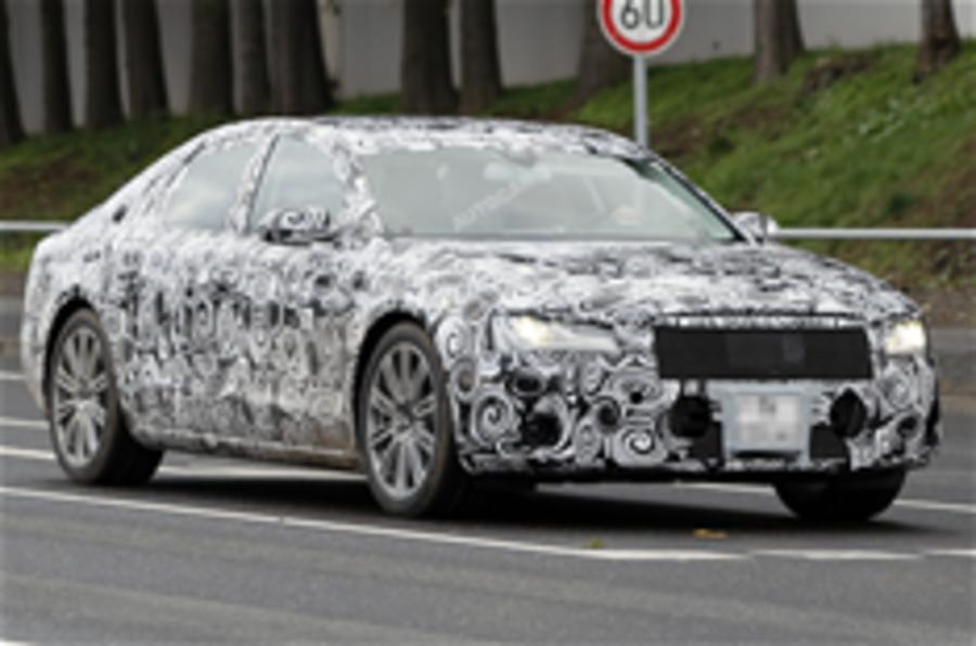 Audi A8 spied again