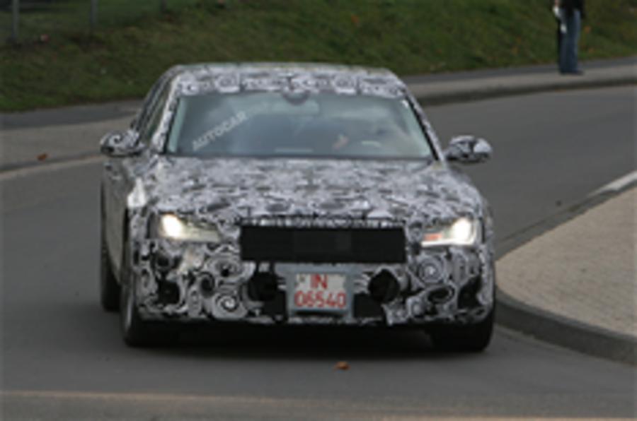 Lighter, cleaner Audi A8 spied