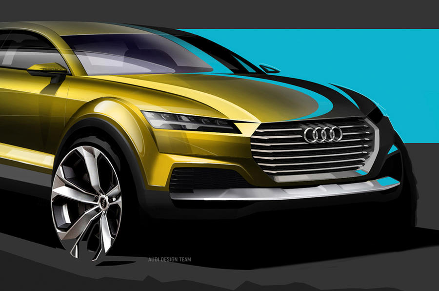 audi q4 suv concept previewed in new design sketches autocar. Black Bedroom Furniture Sets. Home Design Ideas