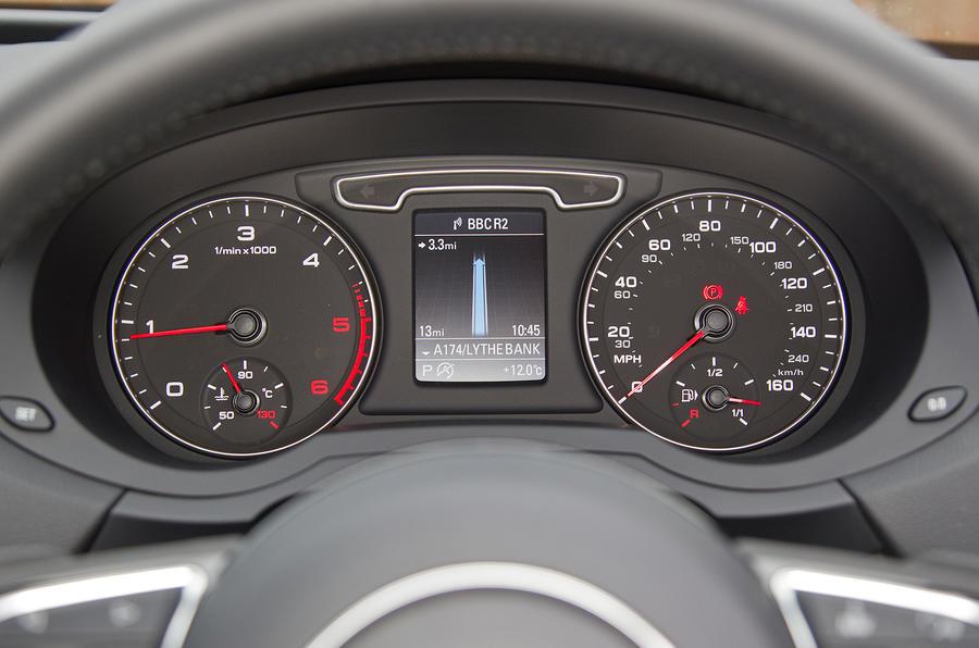Audi Q3's instrument cluster