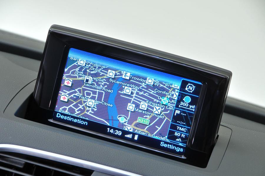 Audi Q3 MMI sat nav