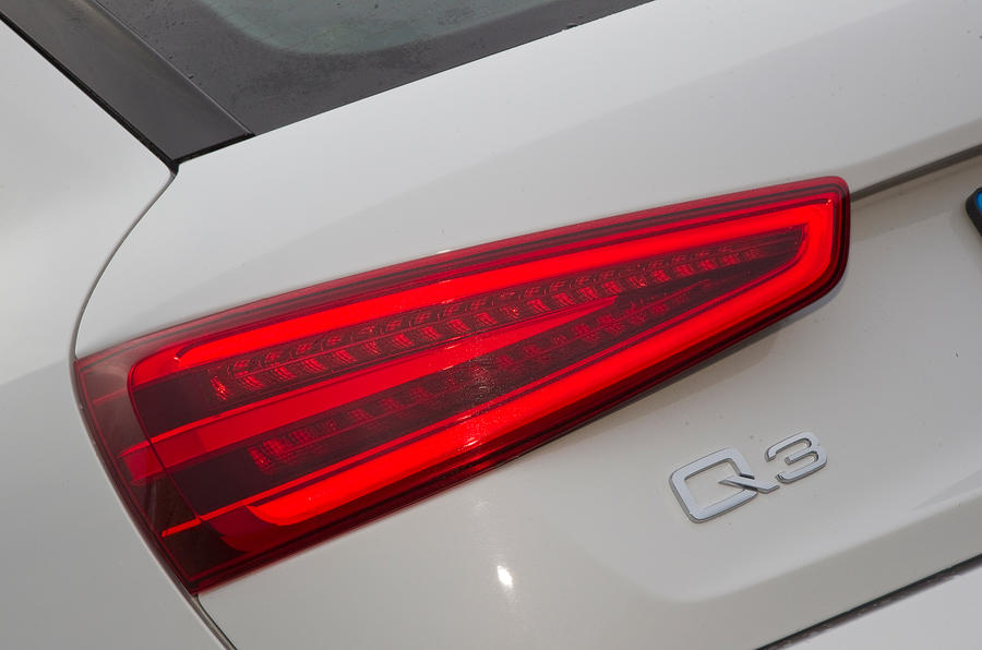 Audi Q3's rear LED lights